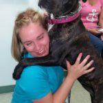 danille and big dog